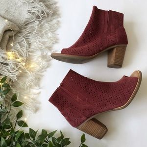Toms Majorca Open Toe Perforated Booties